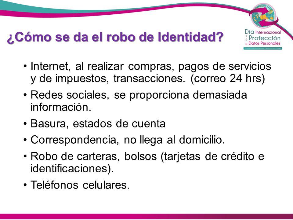 ¿Cómo se da el robo de Identidad