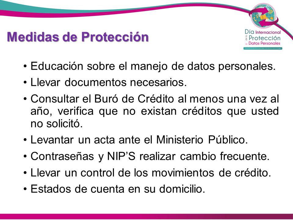 Medidas de Protección Educación sobre el manejo de datos personales.