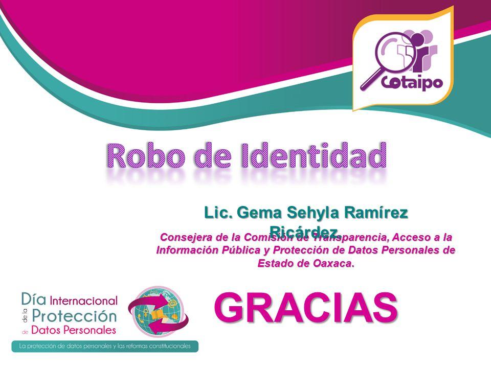 Lic. Gema Sehyla Ramírez Ricárdez.