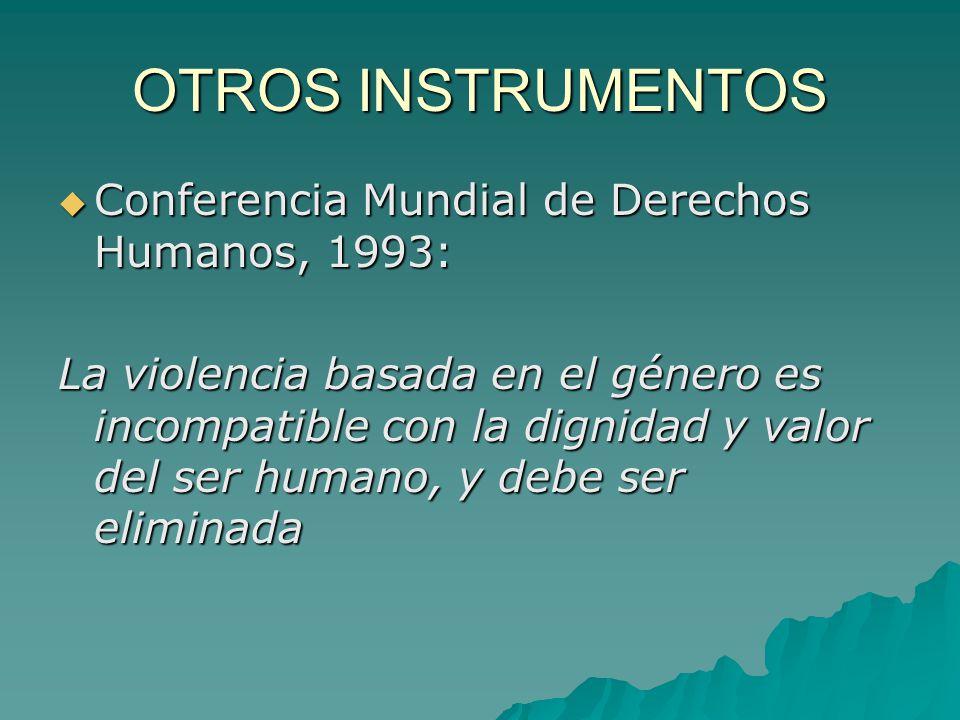 OTROS INSTRUMENTOS Conferencia Mundial de Derechos Humanos, 1993: