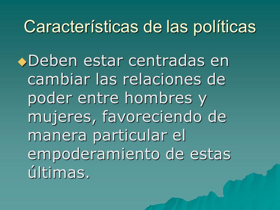Características de las políticas