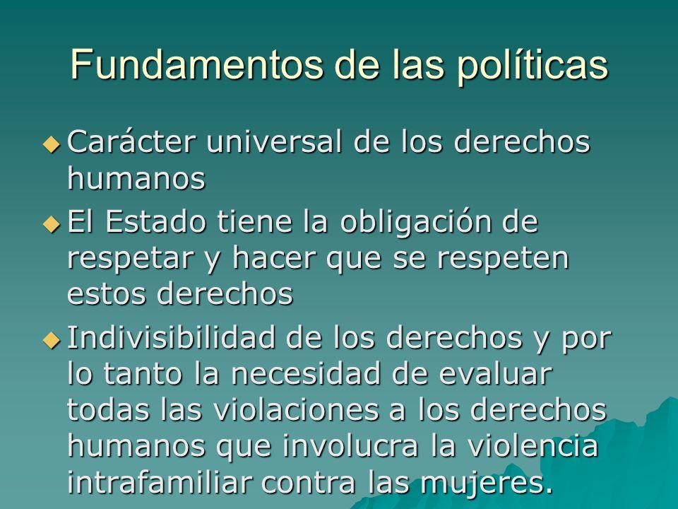 Fundamentos de las políticas