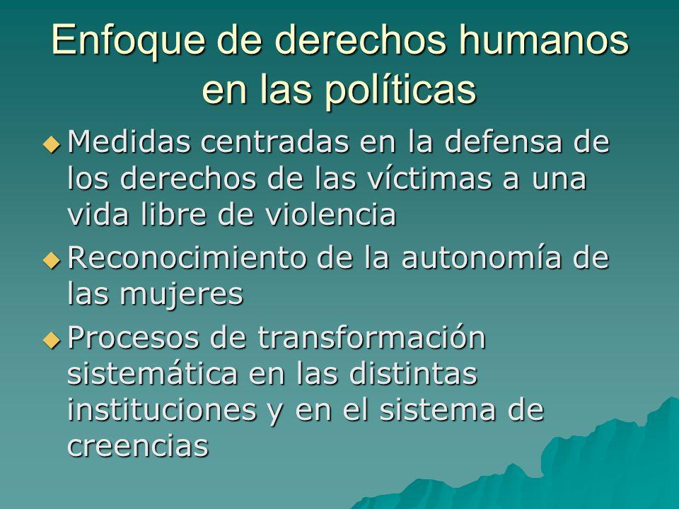 Enfoque de derechos humanos en las políticas