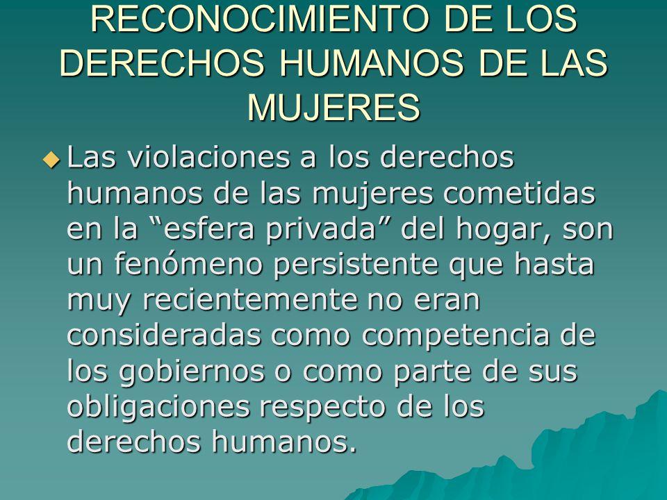 RECONOCIMIENTO DE LOS DERECHOS HUMANOS DE LAS MUJERES