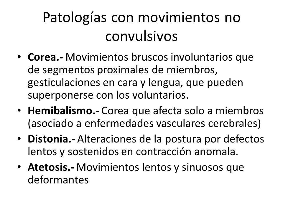 Patologías con movimientos no convulsivos