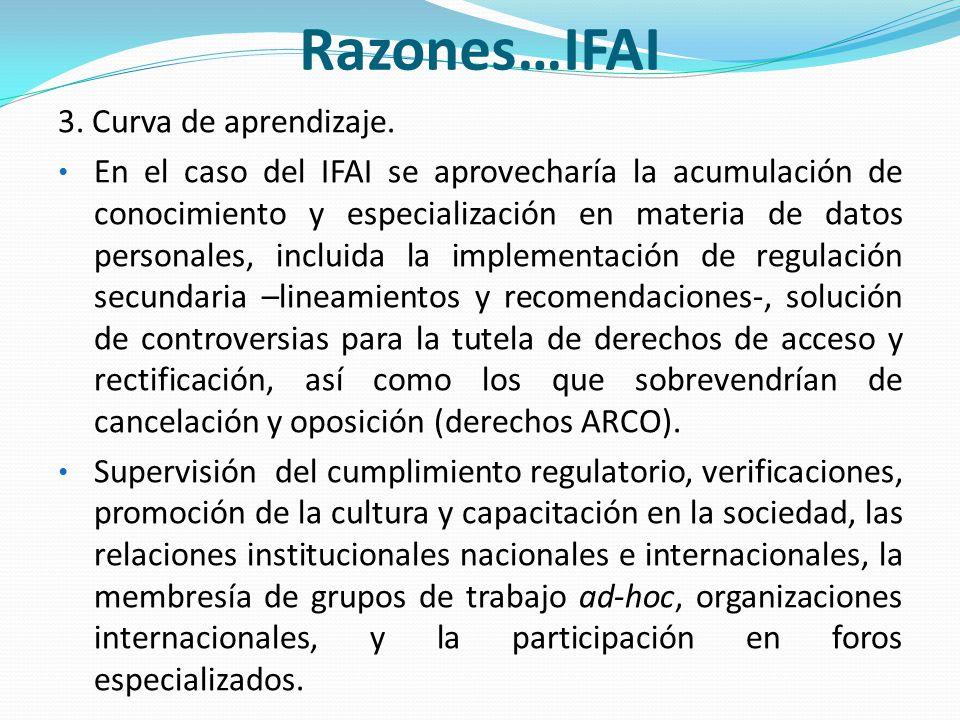 Razones…IFAI 3. Curva de aprendizaje.
