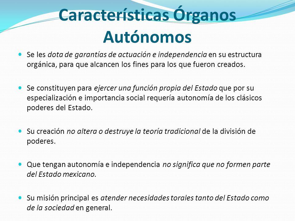 Características Órganos Autónomos