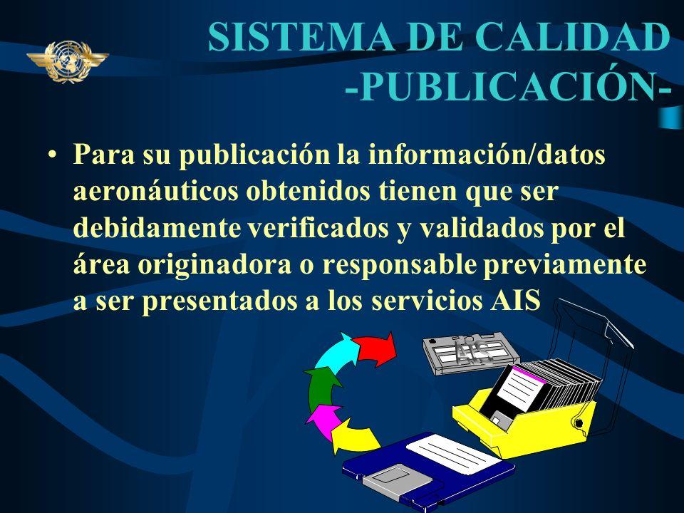 SISTEMA DE CALIDAD -PUBLICACIÓN-
