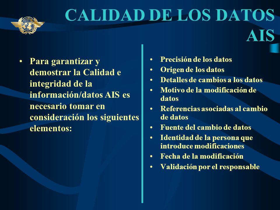 CALIDAD DE LOS DATOS AIS
