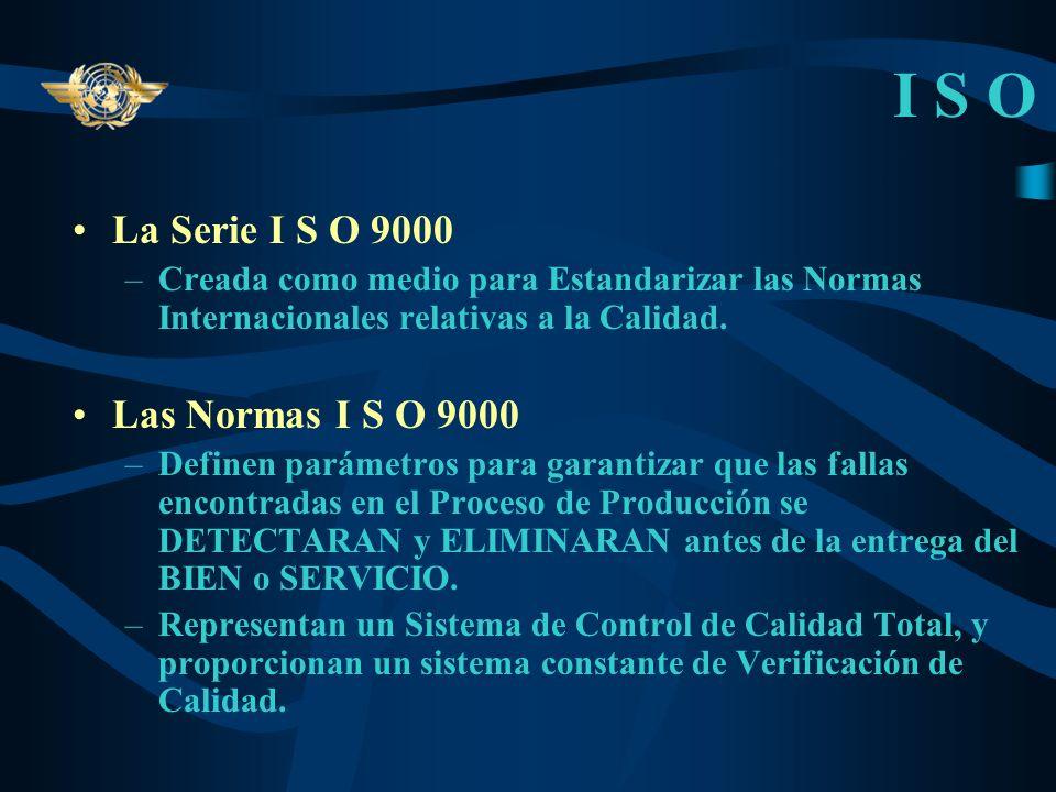 I S O La Serie I S O 9000 Las Normas I S O 9000