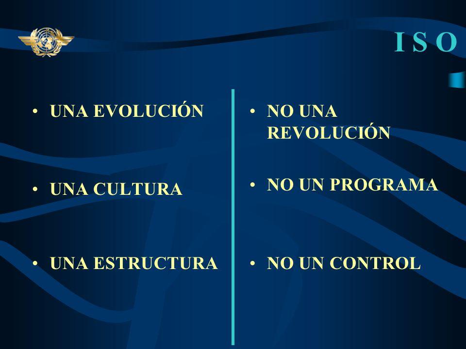 I S O UNA EVOLUCIÓN UNA CULTURA UNA ESTRUCTURA NO UNA REVOLUCIÓN