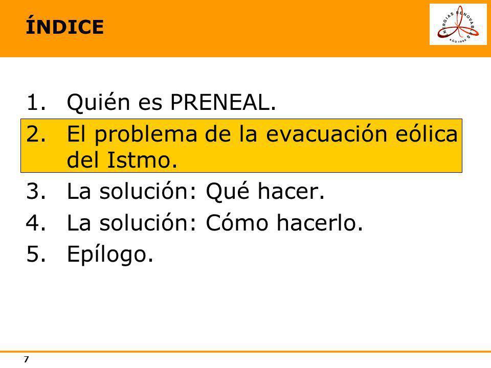 El problema de la evacuación eólica del Istmo. La solución: Qué hacer.