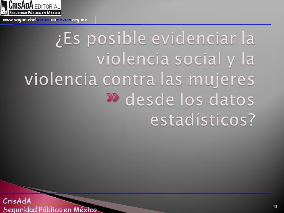 ¿Es posible evidenciar la violencia social y la violencia contra las mujeres desde los datos estadísticos