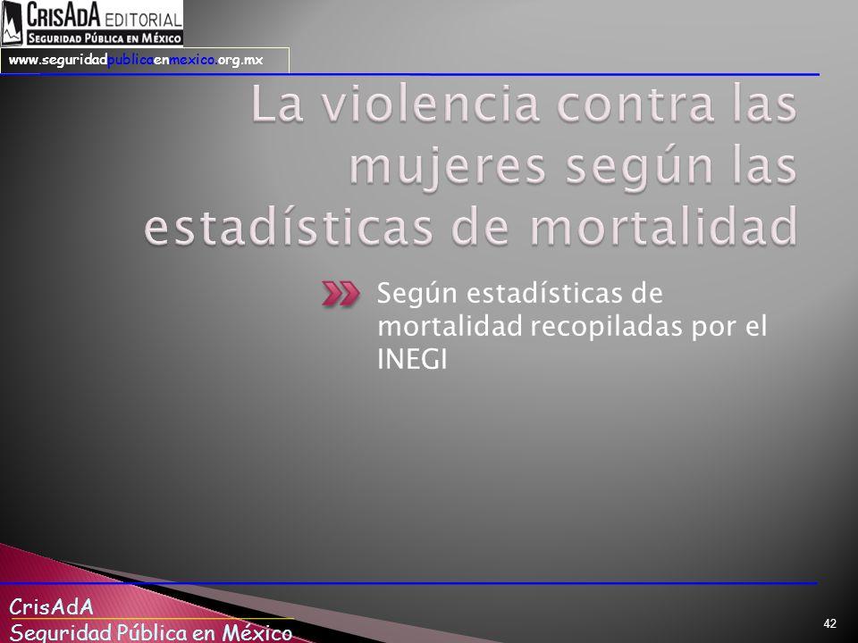 La violencia contra las mujeres según las estadísticas de mortalidad