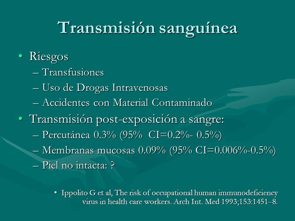 Transmisión sanguínea