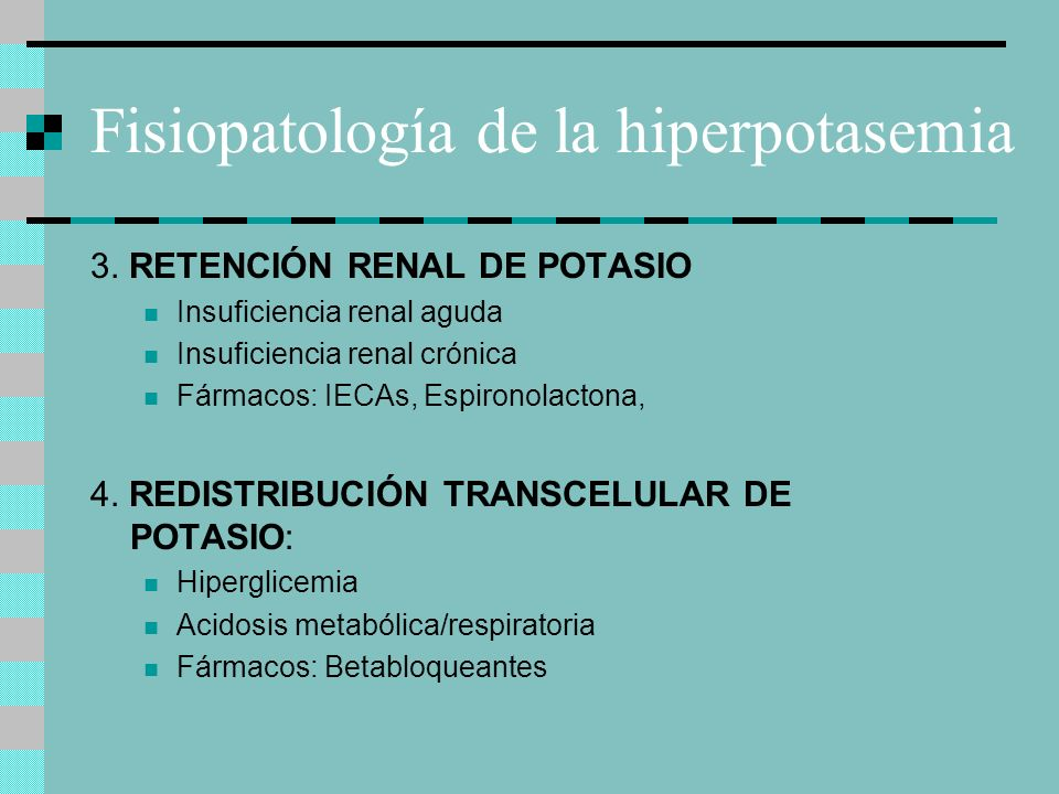 Fisiopatología de la hiperpotasemia