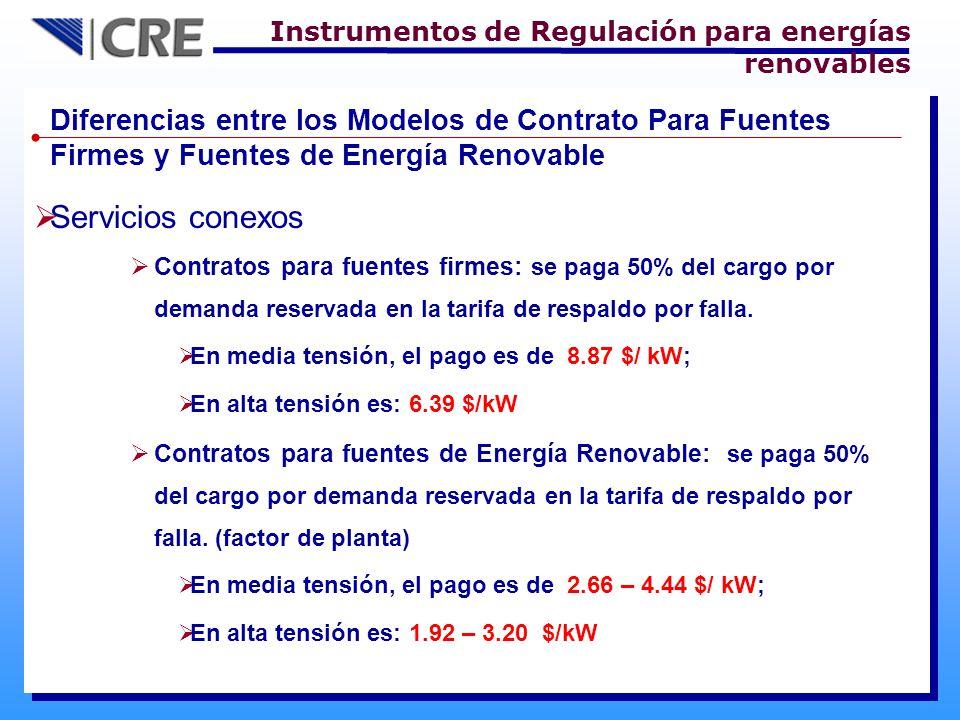 Instrumentos de Regulación para energías renovables
