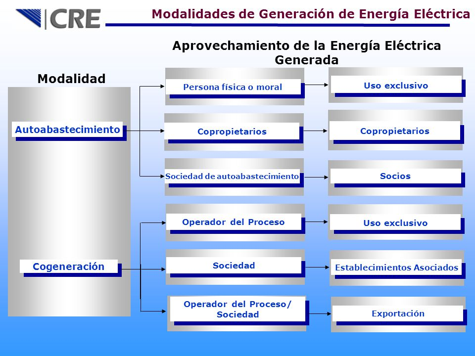 Aprovechamiento de la Energía Eléctrica Generada Modalidad