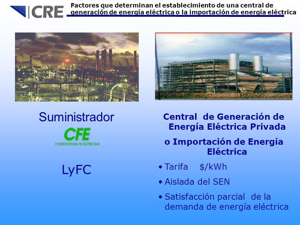 Central de Generación de Energía Eléctrica Privada