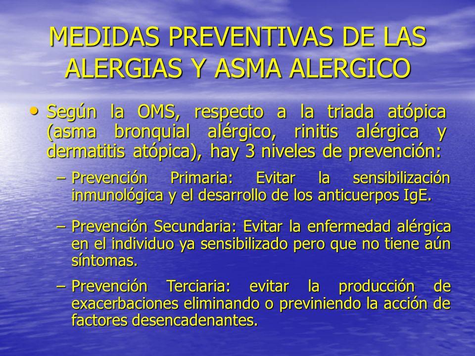 MEDIDAS PREVENTIVAS DE LAS ALERGIAS Y ASMA ALERGICO