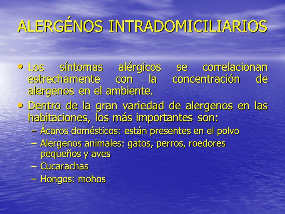 ALERGÉNOS INTRADOMICILIARIOS