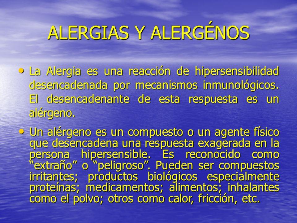 ALERGIAS Y ALERGÉNOS