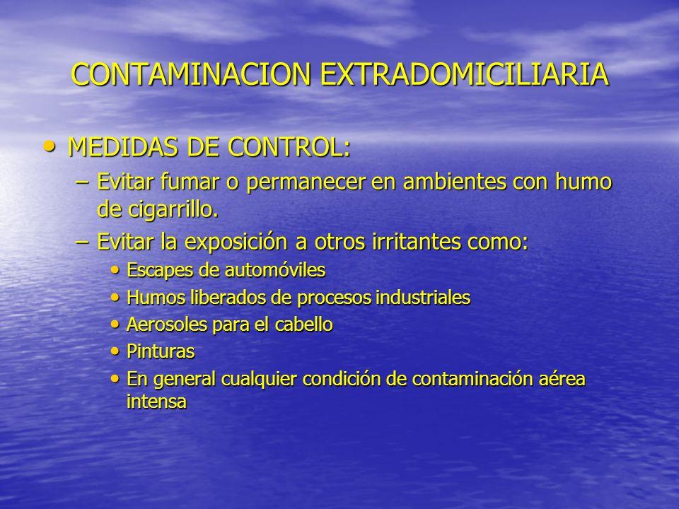 CONTAMINACION EXTRADOMICILIARIA