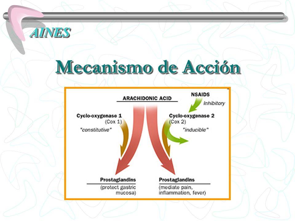 AINES Mecanismo de Acción