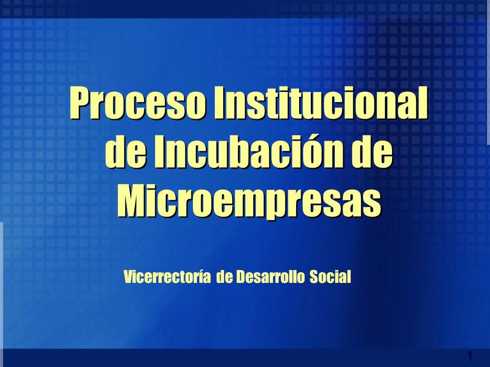 Proceso Institucional de Incubación de Microempresas