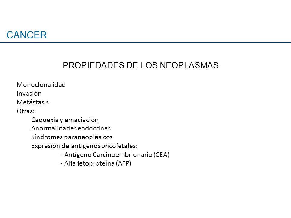 PROPIEDADES DE LOS NEOPLASMAS