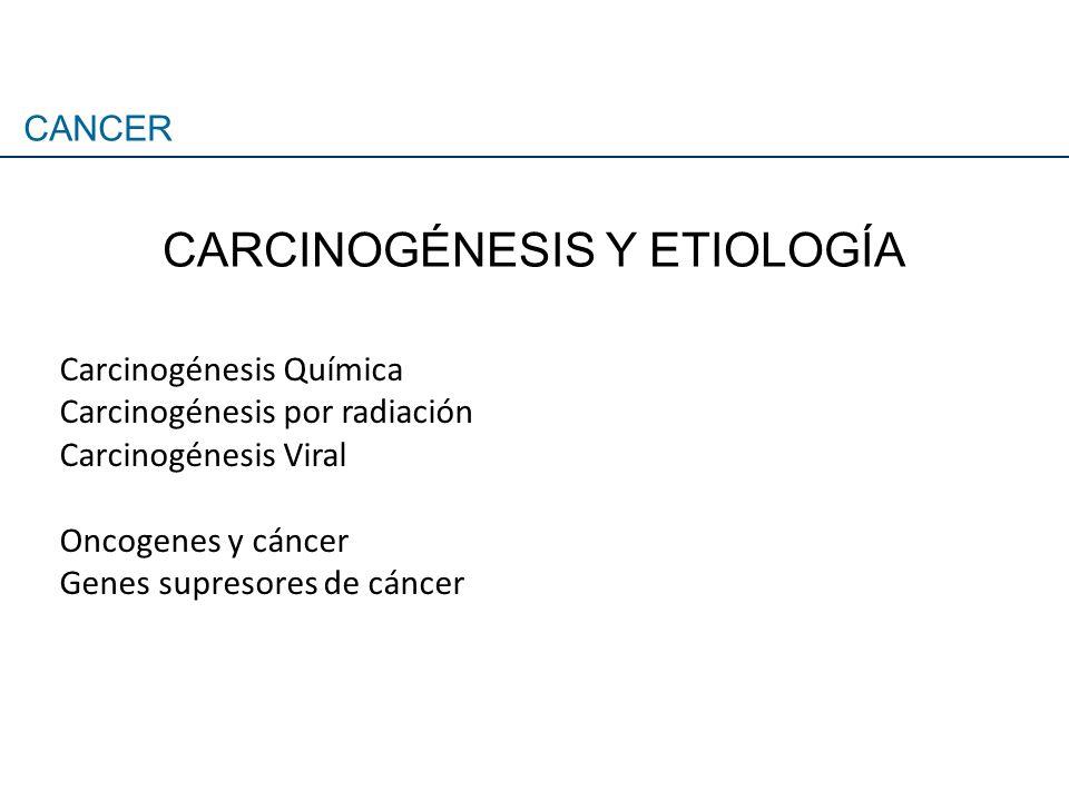 CARCINOGÉNESIS Y ETIOLOGÍA