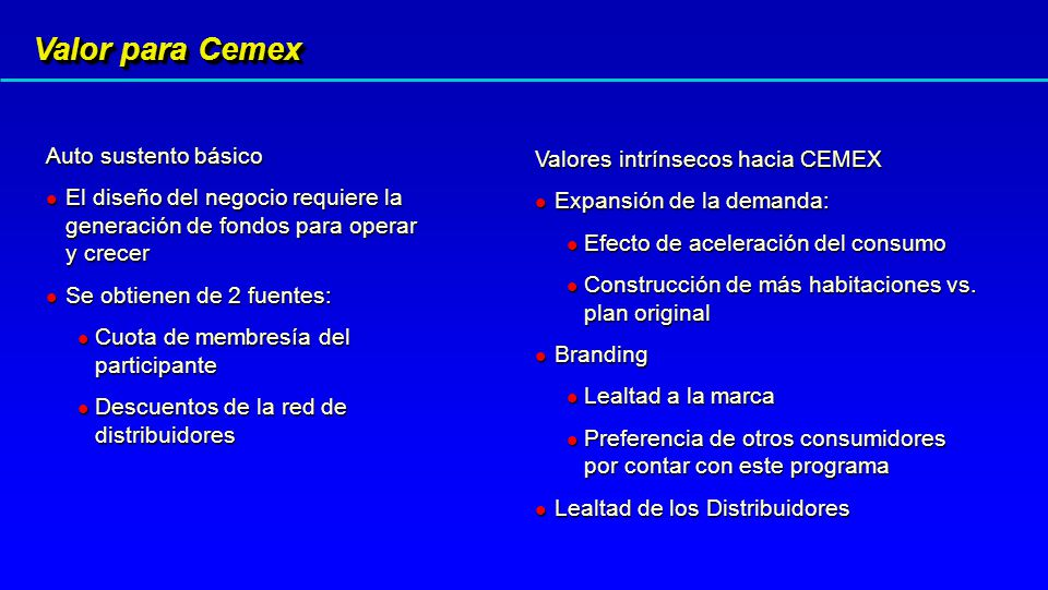 Valor para Cemex Auto sustento básico Valores intrínsecos hacia CEMEX