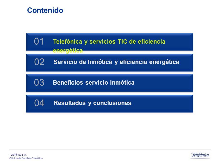 Contenido 01. Telefónica y servicios TIC de eficiencia energética. Servicio de Inmótica y eficiencia energética.