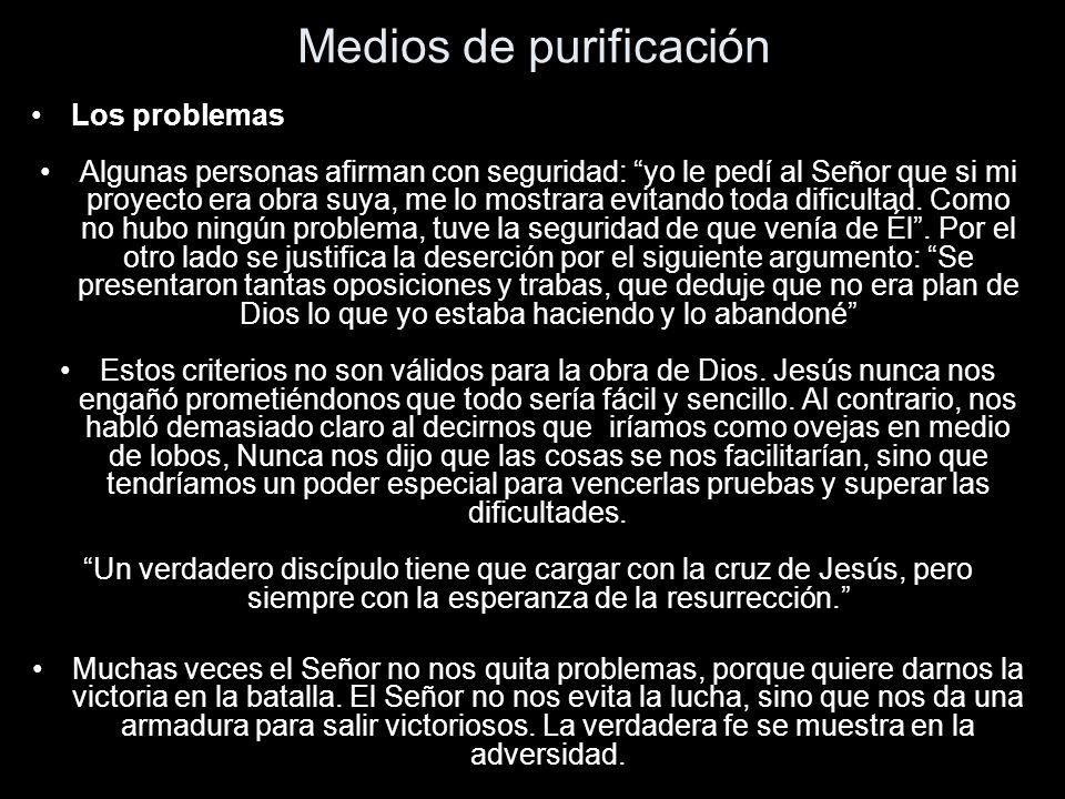 Medios de purificación