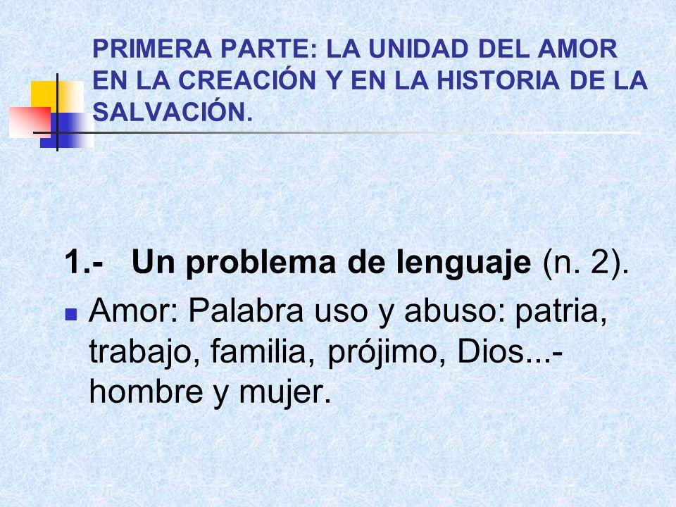 1.- Un problema de lenguaje (n. 2).