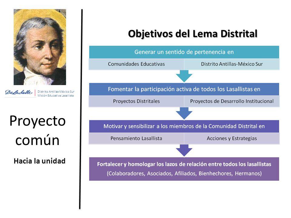 Proyecto común Objetivos del Lema Distrital Hacia la unidad