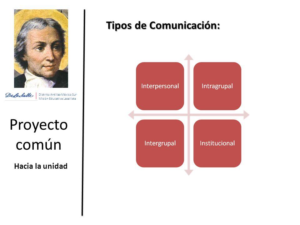 Proyecto común Tipos de Comunicación: Hacia la unidad