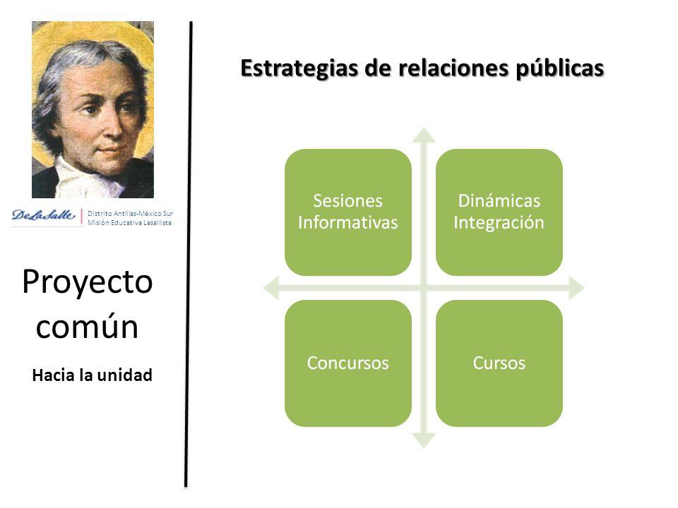 Proyecto común Estrategias de relaciones públicas Hacia la unidad