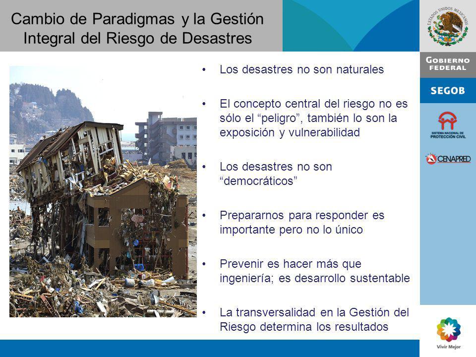 Cambio de Paradigmas y la Gestión Integral del Riesgo de Desastres
