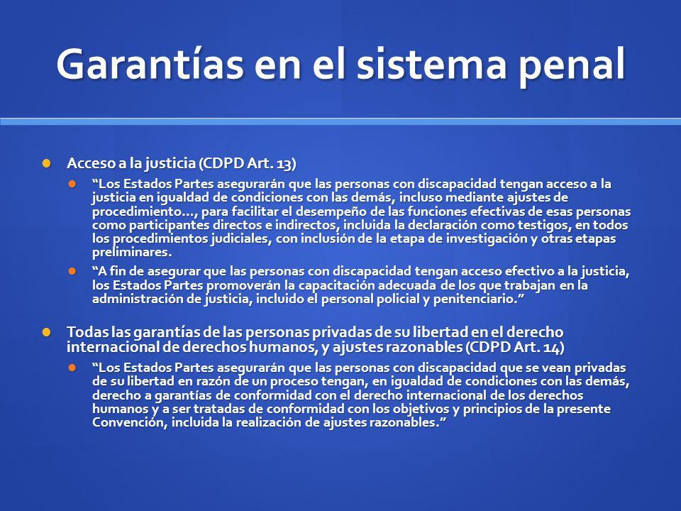 Garantías en el sistema penal