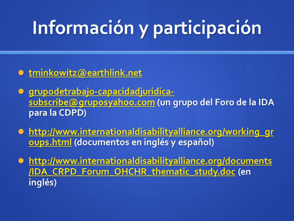 Información y participación