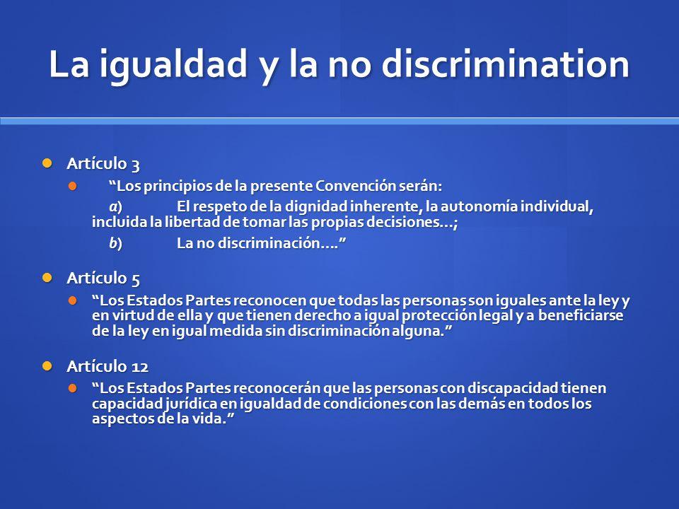 La igualdad y la no discrimination