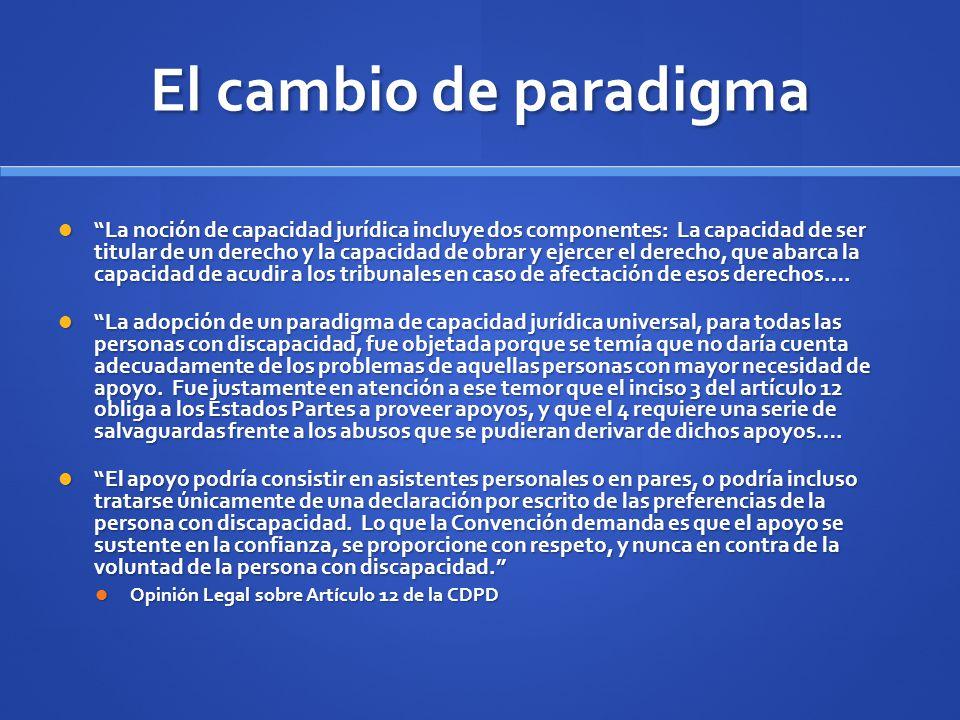 El cambio de paradigma
