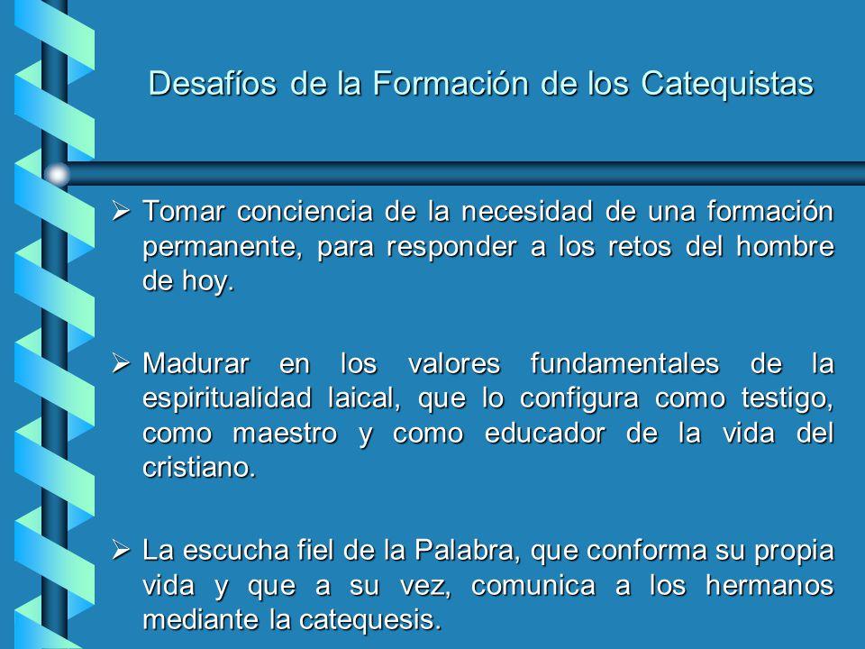 Desafíos de la Formación de los Catequistas