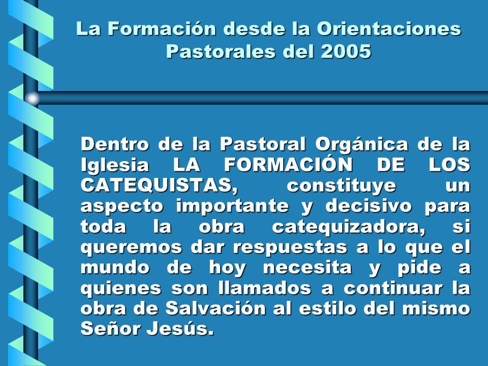 La Formación desde la Orientaciones Pastorales del 2005