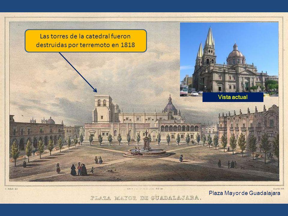 Las torres de la catedral fueron destruidas por terremoto en 1818