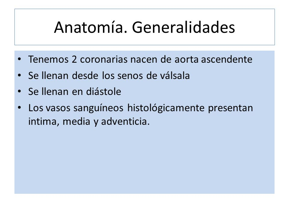 Anatomía. Generalidades