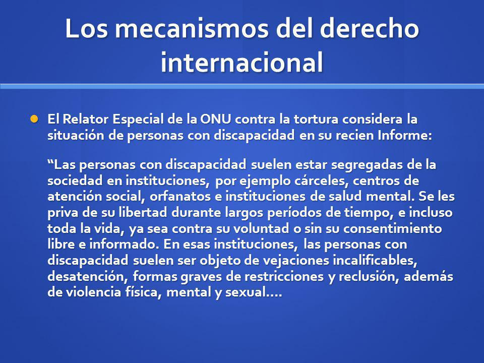 Los mecanismos del derecho internacional