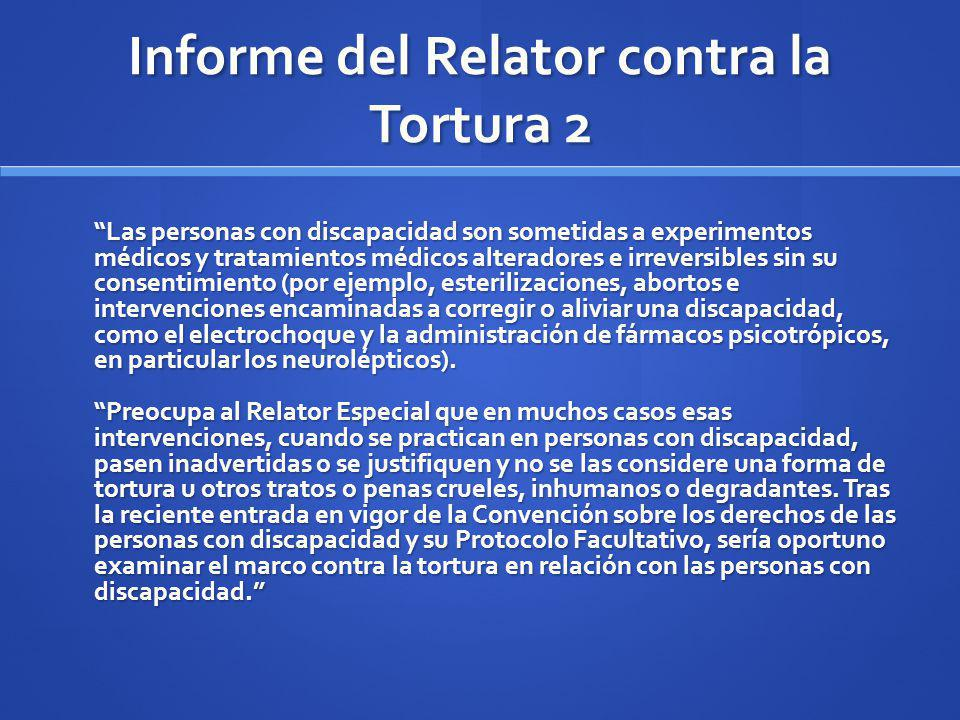 Informe del Relator contra la Tortura 2