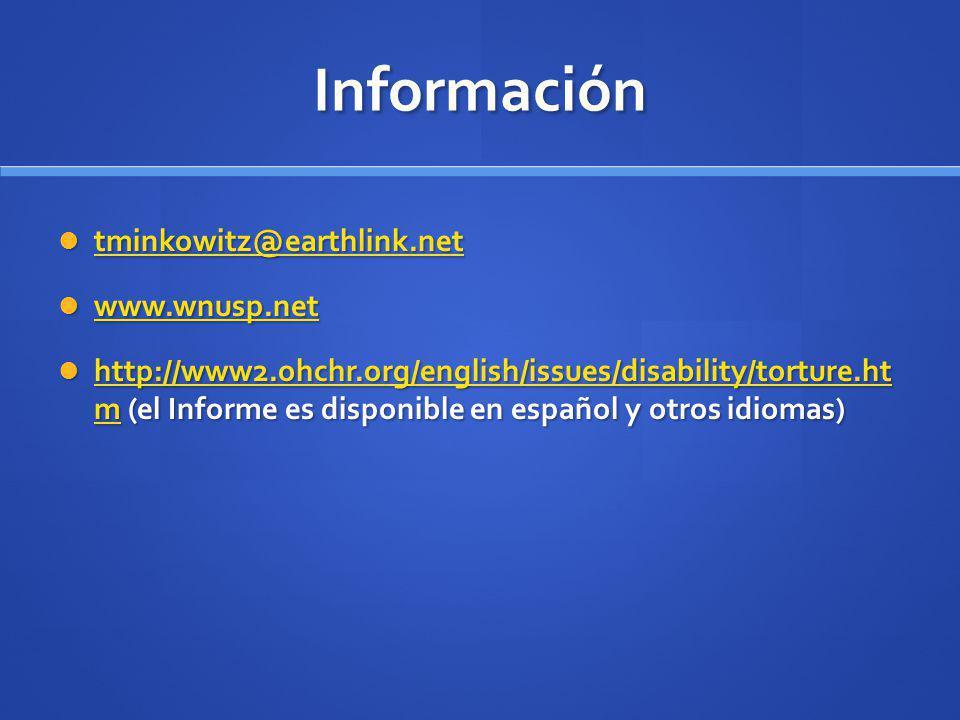 Información tminkowitz@earthlink.net www.wnusp.net